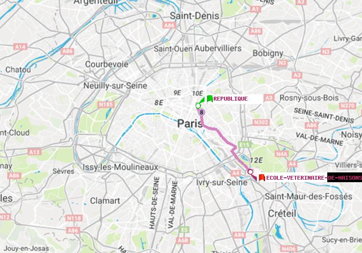 M 233 Tro Paris Itin 233 Raire De R 233 Publique 224 Ecole V 233 T 233 Rinaire